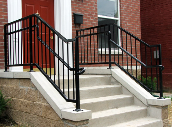 Exterior Wrought Iron Railing Design Ideas