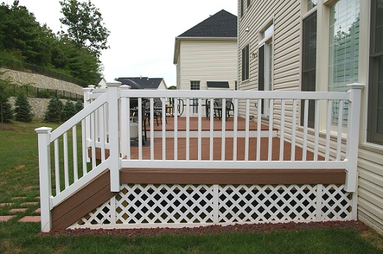 Outdoor Vinyl Porch Railings