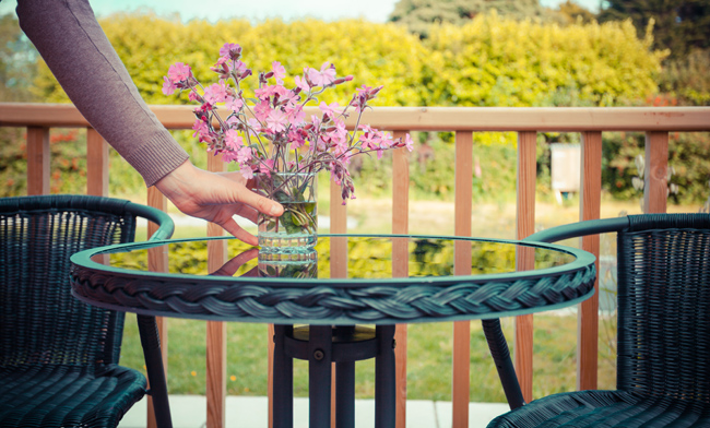 [Porch Accessories with bistro chairs