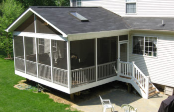 Screening an Outdoor Deck: Rediscovering the Outdoor / Indoor Sun Room Features of a Screened Porch
