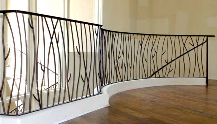 Elegant Wrought Iron Interior Railings Stairs