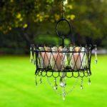 Outdoor hanging candle chandelier