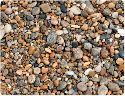 mixed bag of pebbles