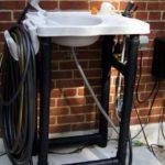 How we set up our outdoor garden sink