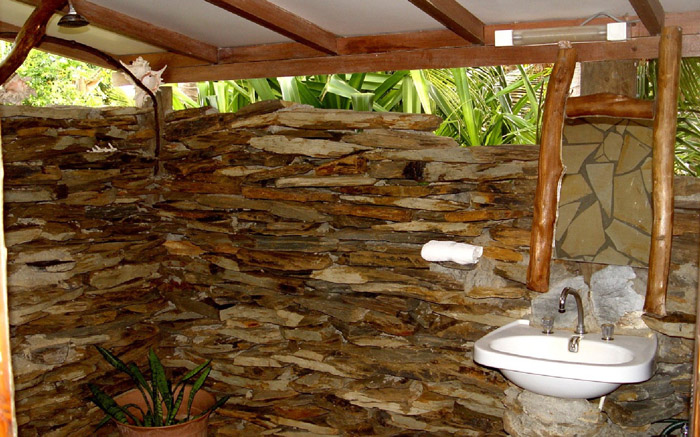 outdoor washroom and sink